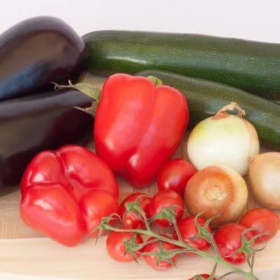 Gemüse für Rattatouille